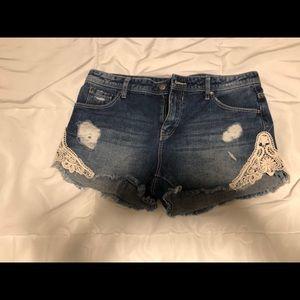 NWT Denim and Lace Shorts JOE BOXER